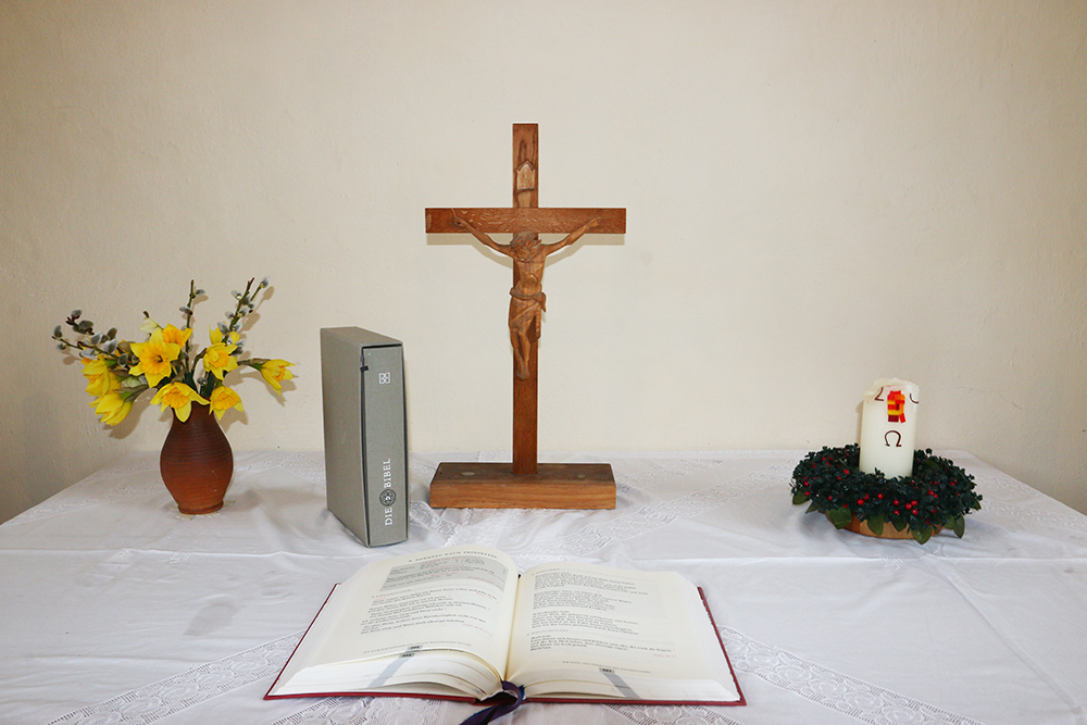 Kirche Dürrweitzschen Altar